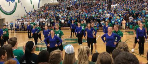 Football and dance team pepfest dance