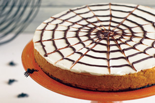 Spider Web Pumpkin Cheesecake (Courtesy of Kraft Recipes)