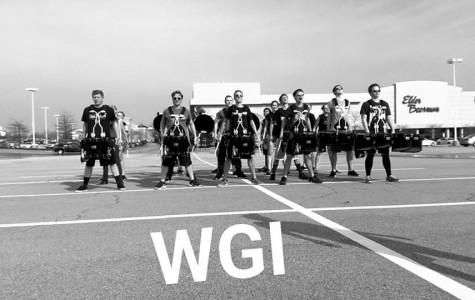 The Drumline Team  in Dayton, Ohio for the WGI(Winter Guard International) tournament in April.