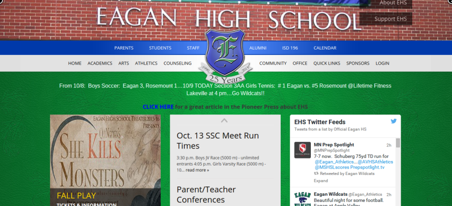 EHS website