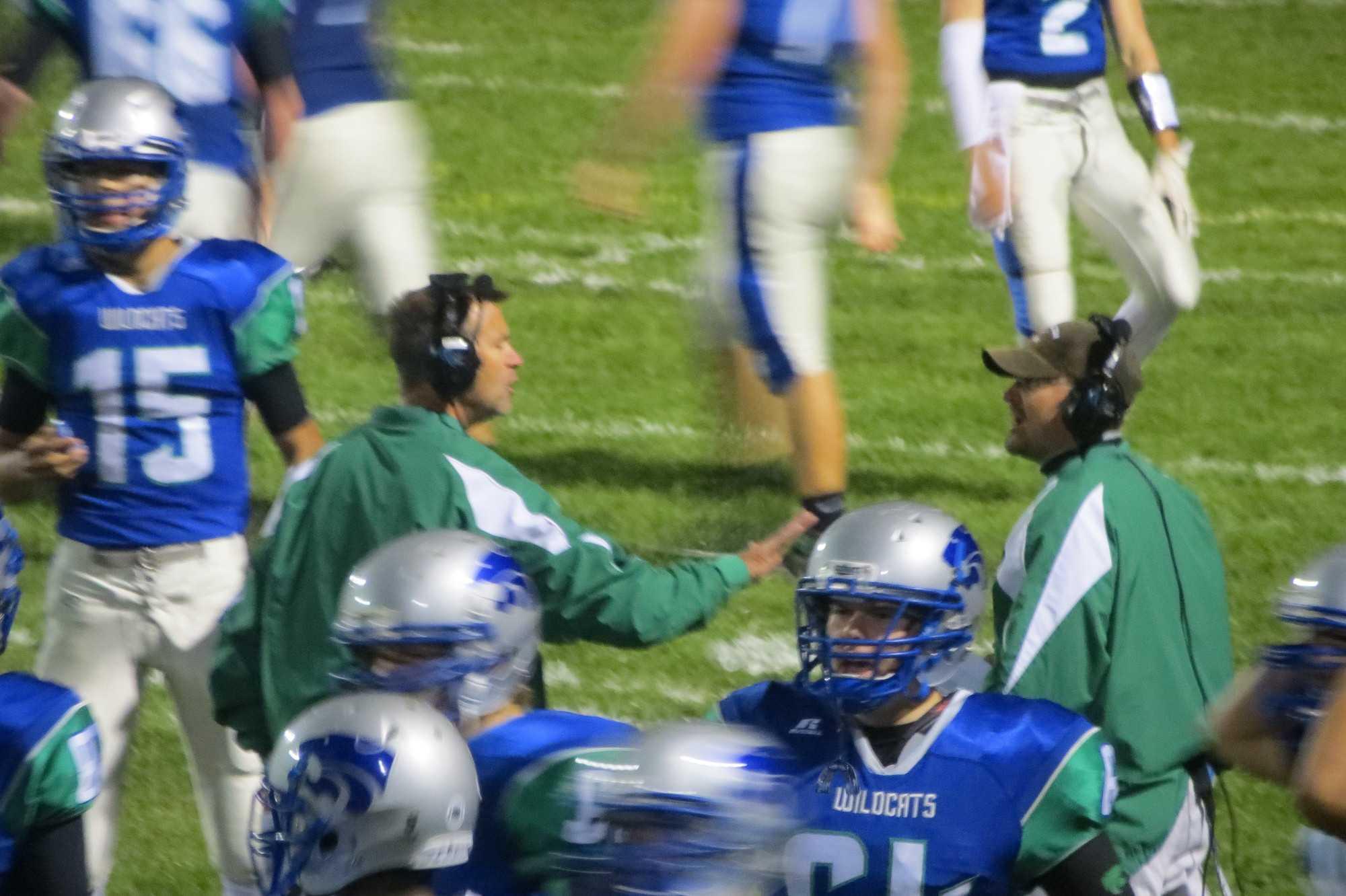 Coach Sutton directs his team
