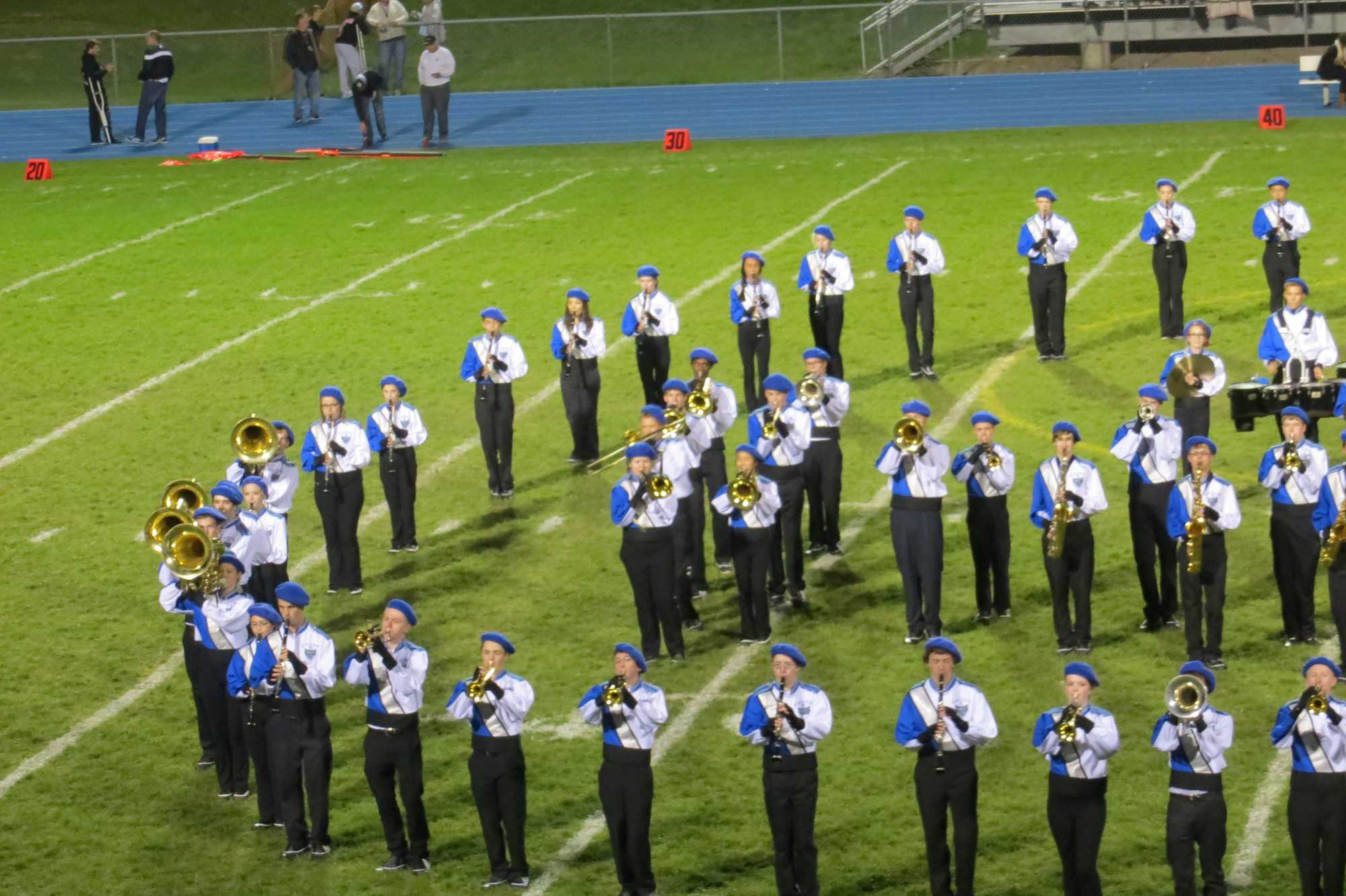 Varsity Band's halftime performance