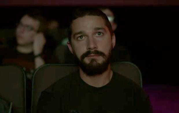 LeBeouf's reaction to seeing himself on screen