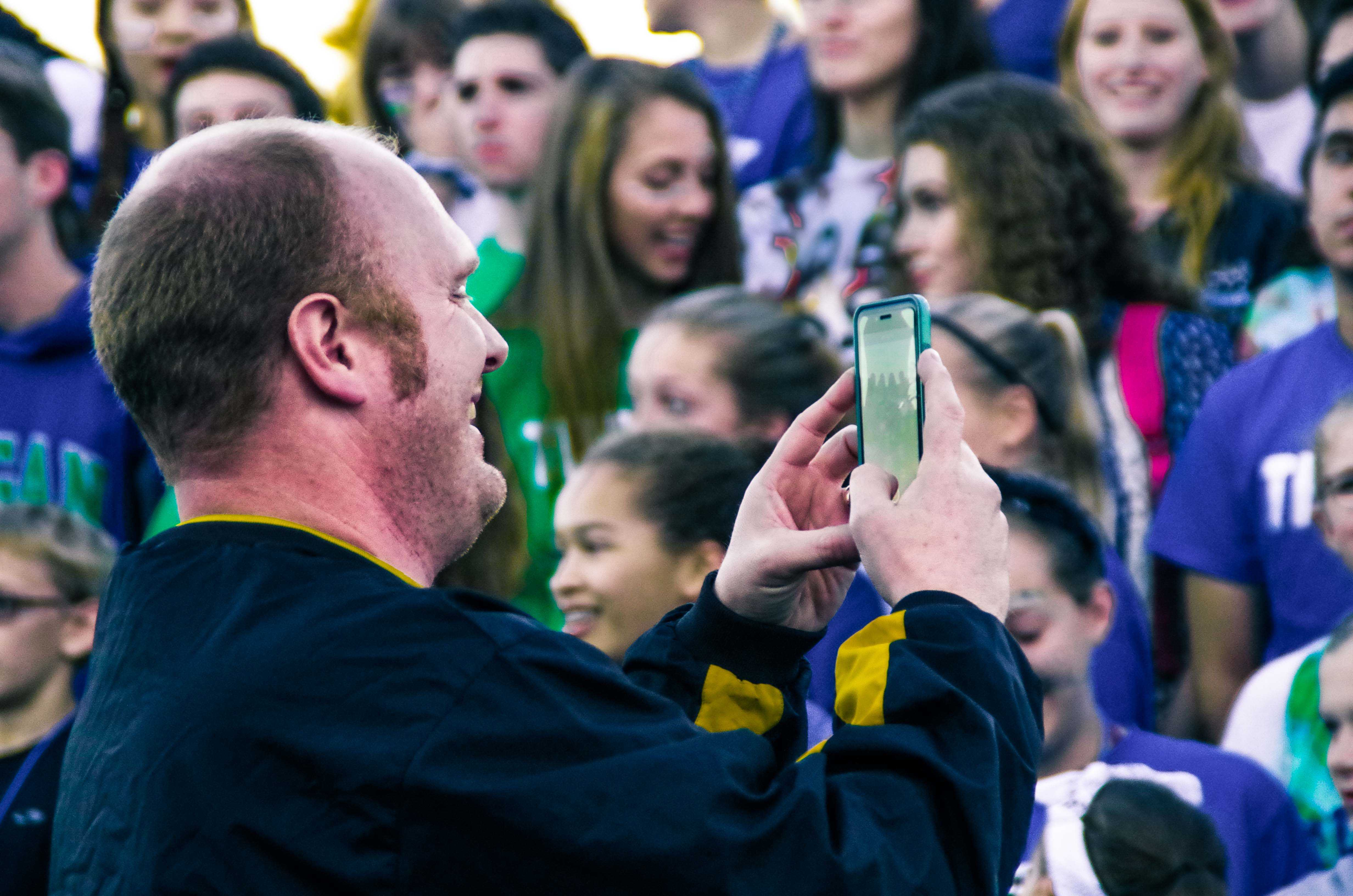 Mr. Cox snaps a pic of Concert Choir