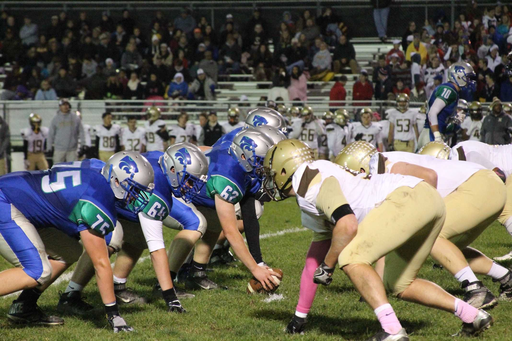 Eagan's offense lines up