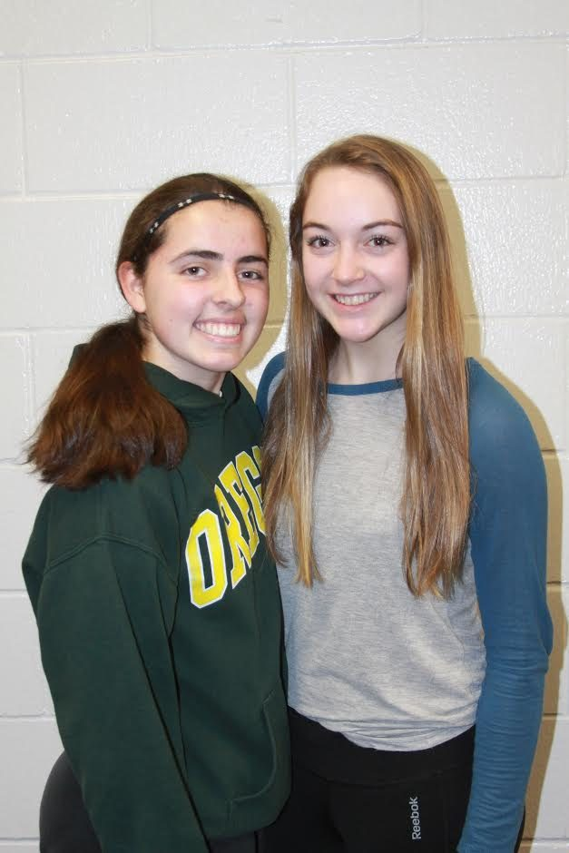 Taylor Luecke and Sophie Bergman