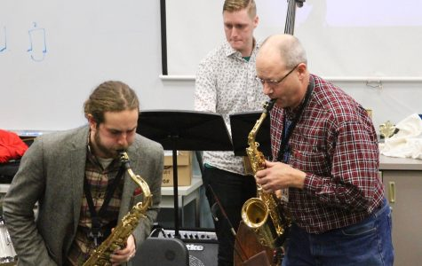 Jazz Musicians Perform for Wind Ensemble
