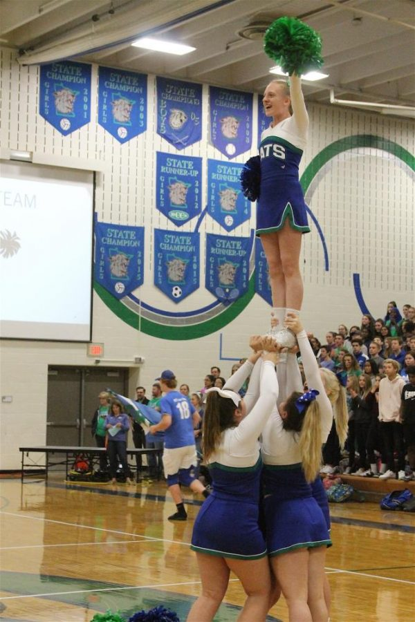 EHS cheerleaders whip up the PIT.
