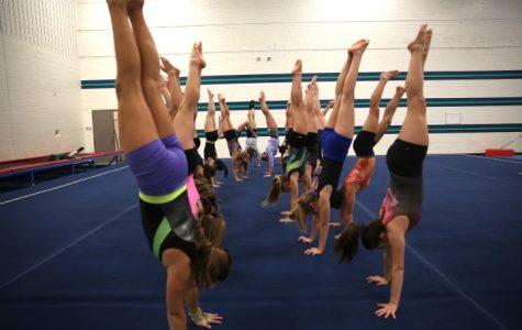 Team Handstands at  Practice