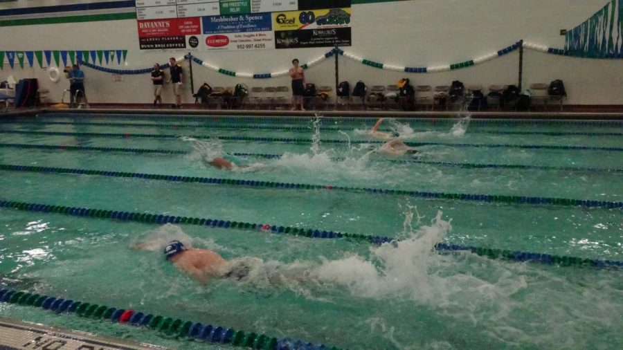 Boys Swimming Dives Into Meet Against Burnsville