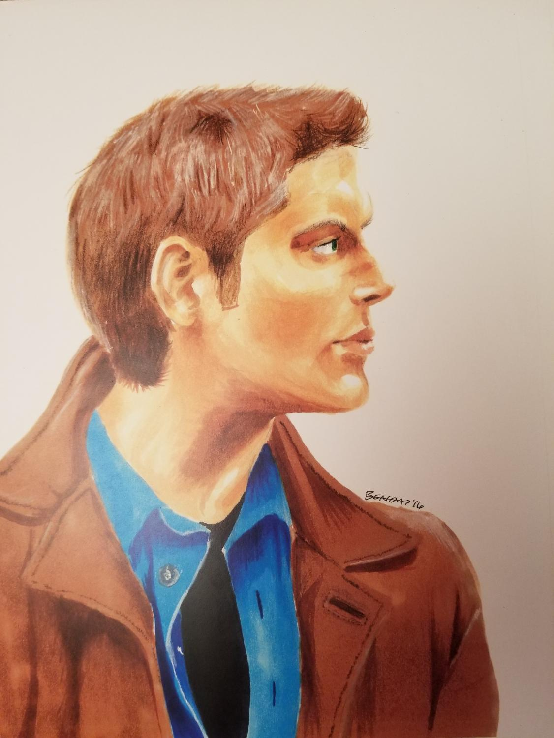 """Winchester"" - Copic marker and colored pencil"