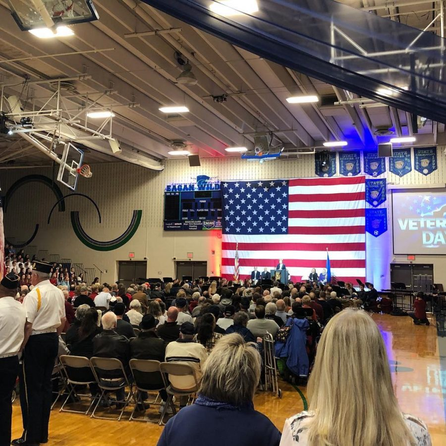 Veterans are honored at EHS's annual assembly