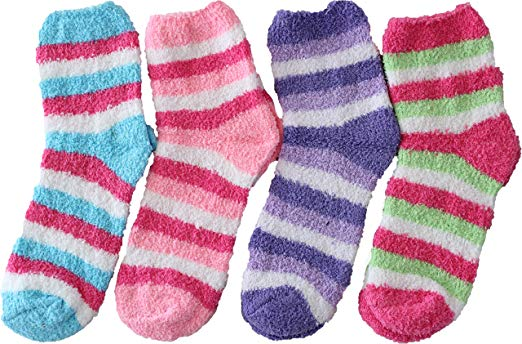 Fuzzy socks are always a good idea for all ages.