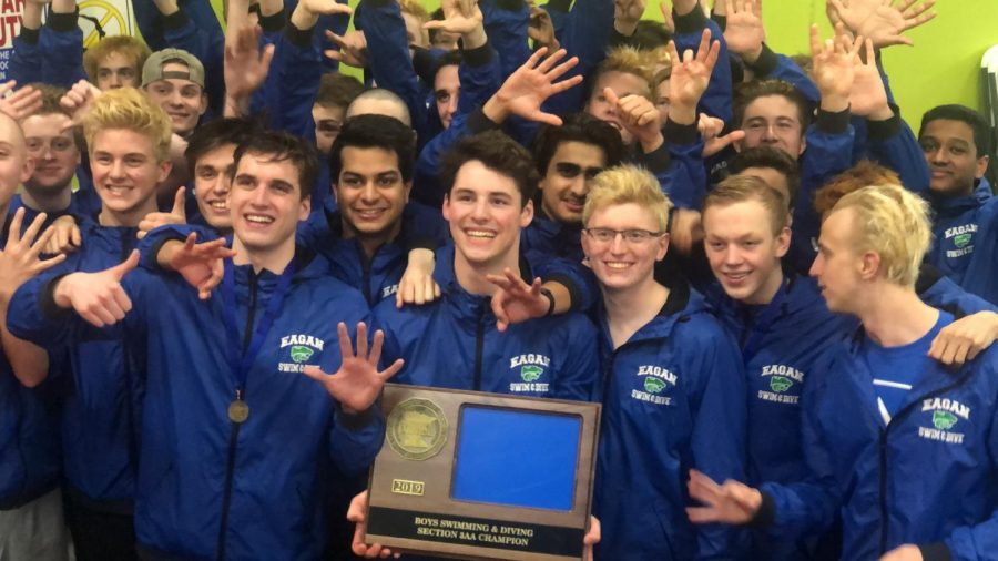 Boys swim and dive takes home section champ title for 6th year in a row