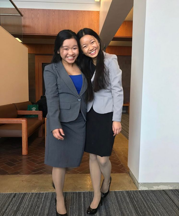 Trinh Nguyen and her sister Tram.