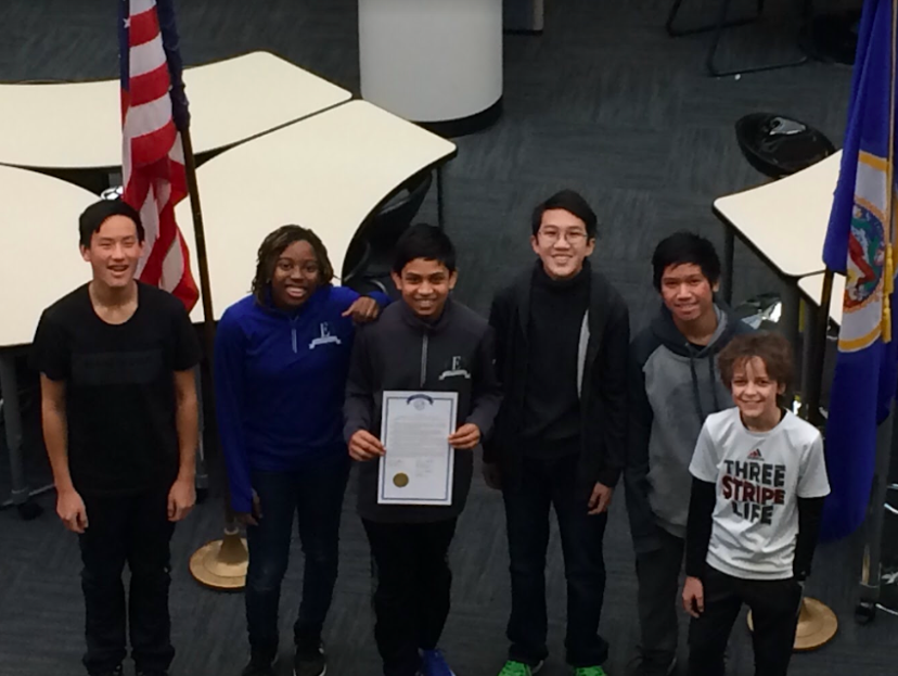 Eagan's 8th grade speech and debate members