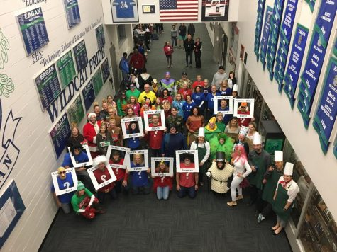 The teachers of Eagan High School dressed up for Halloween 2018.