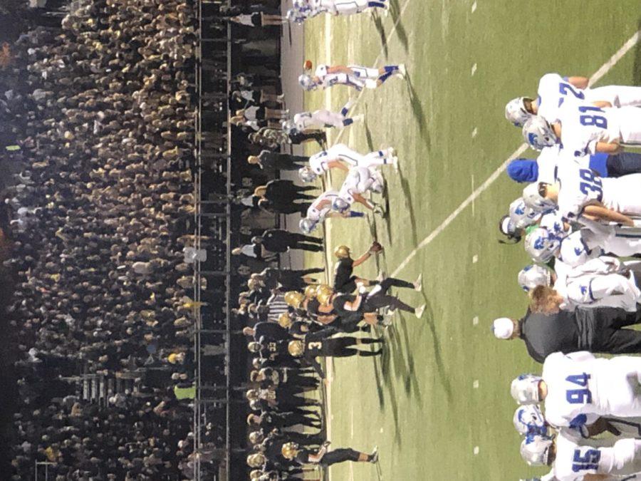 Varsity football team facing off against east ridge on Friday, September 24th.